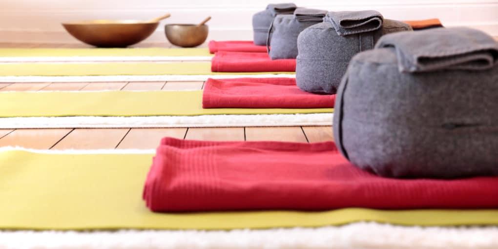 Yoga blankets and Yoga Cushion